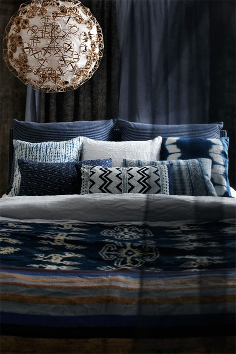 Dark Blue Bed