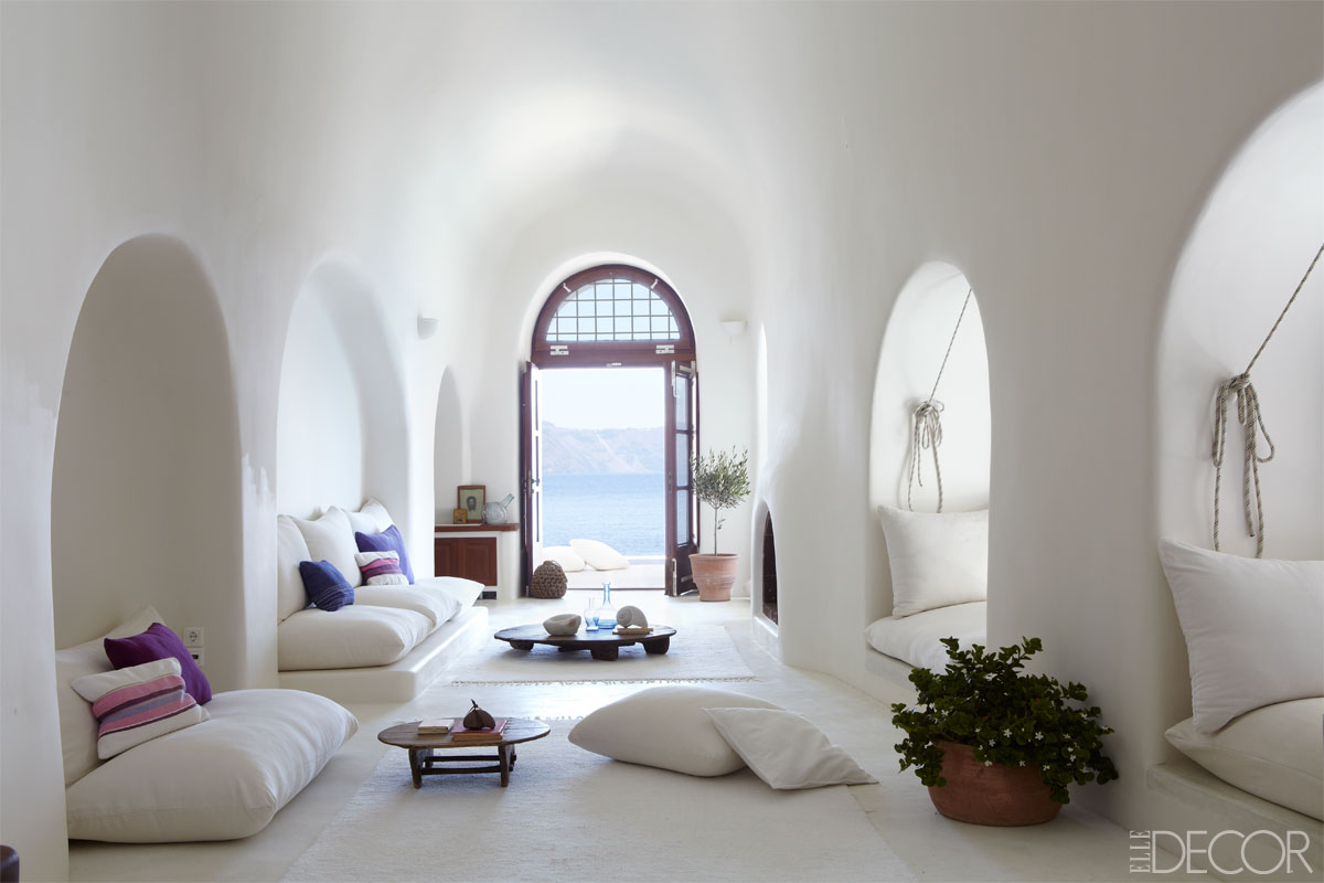 This Dreamy Greek Island Home Was Featured On Elle Decor. Itu0027s Beautiful,  Airy And Spacious, And Is Mostly White With A Few Statement Pops Of Color.