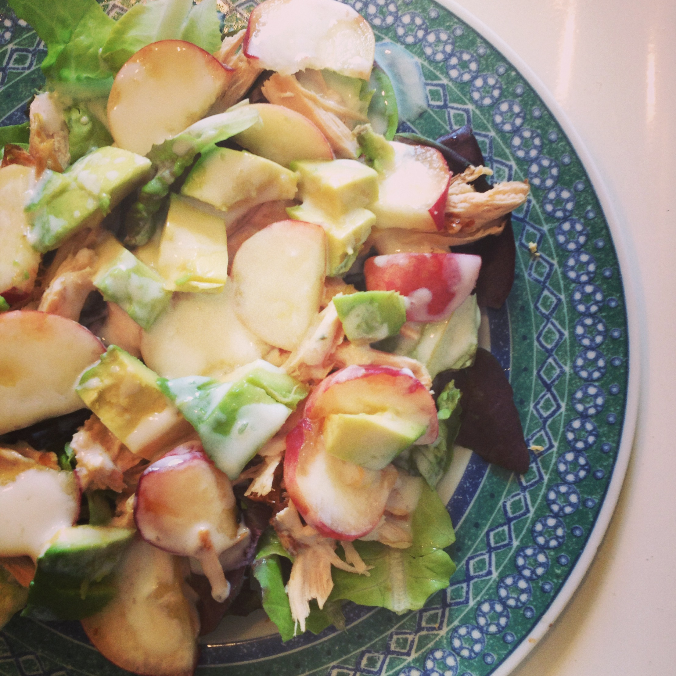 Roast Chicken, Peach, and Avocado Salad with Yogurt ...