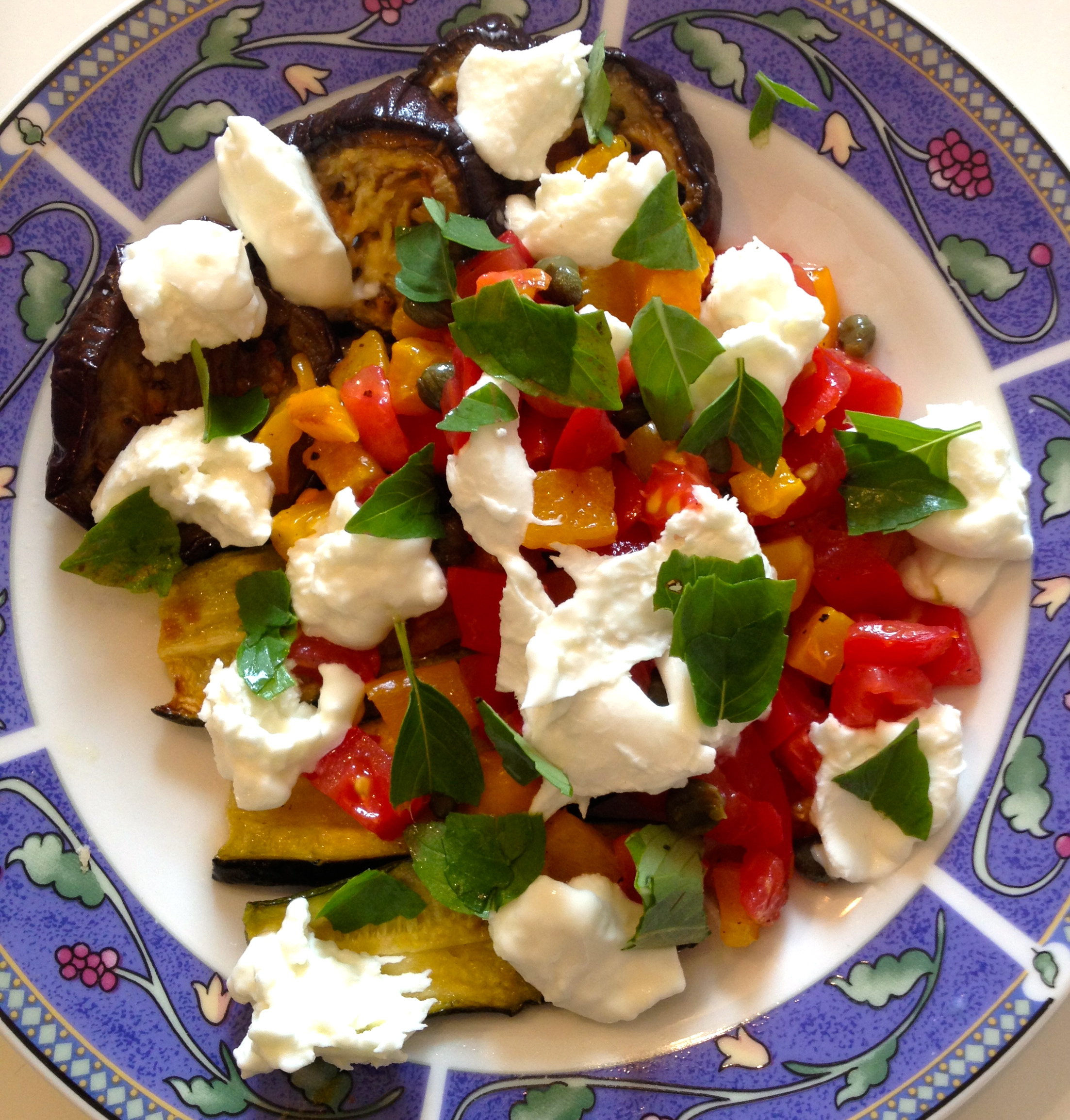 Roast Vegetable Caprese Salad with Capers « Vanessa Larson